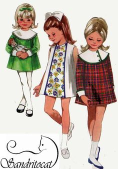 Vintage 60s Butterick4670 Girls Mod A Line Dress by sandritocat, $10.00