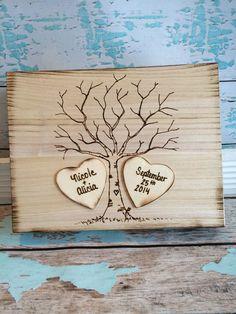 SAME SEX MARRIAGE / Rustic wedding guest book alternative / guest book / memory box / wedding wishes / wood burned box / keepsake box