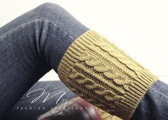 Knit Boot Cuffs Cable Knit Boot Cuffs Button by myfashioncreations