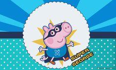 Super George Pig – Kit festa grátis para imprimir – Inspire sua Festa ®