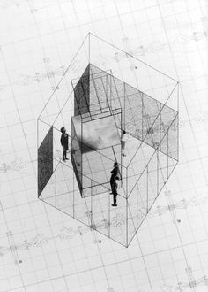 'Superstudio at the MAXXI * poster print Collage Architecture, Concept Models Architecture, Architecture Graphics, Architecture Drawings, Architecture Design, School Architecture, Photomontage, John Hejduk, Isometric Drawing