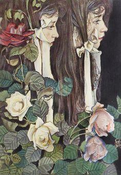 Double Portrait of Eliza Parenska - Stanislaw Wyspianski 1905