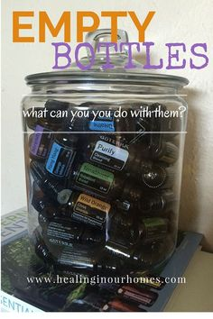 Have lots of empty essential oil bottles? Don't toss them, I have lots of great ideas on what to do with your empty oil bottles. Read more here and upcycle.
