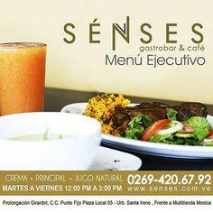Un menú balanceado.   @sensesgastrobar  lo tiene para ti y al mejor precio! Visítalos!  Prolongación Girardot C.C. Punto Fijo Plaza  Urbanización Santa Irene frente a Multitienda Mónica.  #senses #gastrobar #food #foodie #lunch #almuerzo #puntofijo #falcon #venezuela #chef