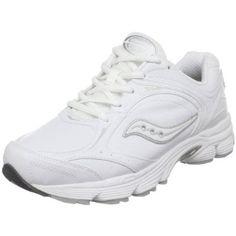 Saucony Women's ProGrid Echelon LE Walking Shoe,White/Silver,7 WU S Saucony. $86.99