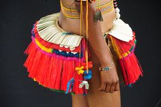 trobriand islands, skirt of a traditional dancer