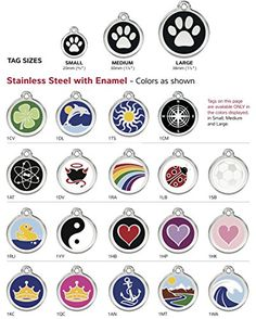 Red Dingo Stainless Steel with Enamel Pet I.D. Tag (Small)
