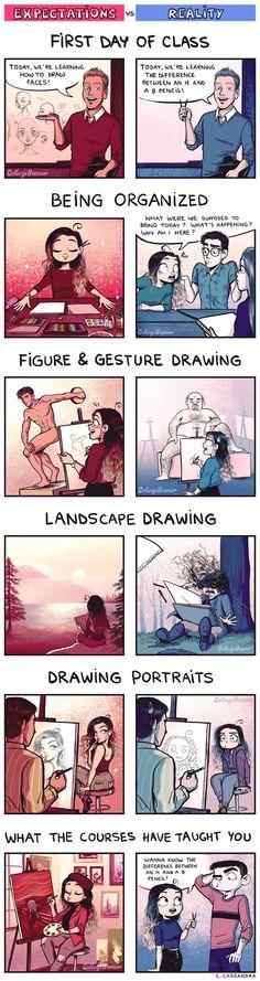 20 illustrations marrantes de la vie dartiste  Dessein de dessin