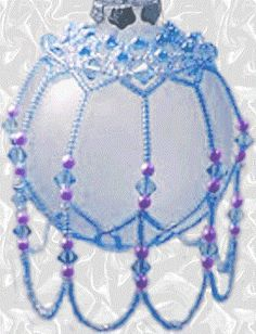 You can buy Beaded Christmas Ornament Kits like this from local or online craft stores.