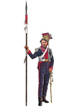 """""""Lanciere del 1º squadrone (squadrone polacco) del reggimento cavalleggeri lancieri della Guardia imperiale, Waterloo 1815"""", Giorgio Albertini"""