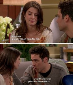 The 33 Most Romantic Moments In TV History When+Ted+told+Robin+he+would+have+stolen+her+a+whole+orchestra+on+How+I+Met+Your+Mother,+even+though+they+were+breaking+up. Romantic Movie Quotes, Best Movie Quotes, Romantic Moments, Tv Show Quotes, Film Quotes, Play Quotes, Most Romantic, Ted Mosby, How I Met Your Mother