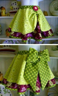 circle skirt, with shorter circle skirt on top Would make a great apron! Man, I need to figure out the circle skirt apron! Sewing Tutorials, Sewing Crafts, Sewing Projects, Sewing Patterns, Girls Skirt Patterns, Sewing Aprons, Sewing Clothes, Doll Clothes, Couture Bb
