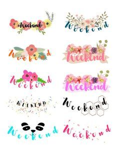 Weekend Stickers - Printables - Planning To Be Happy!