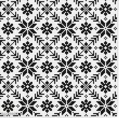 Mask Dilla: Kofte Pattern from Selbu Crochet Motifs, Crochet Cross, Crochet Chart, Crochet Home, Knitting Charts, Knitting Stitches, Knitting Patterns, Crochet Patterns, Fair Isle Chart