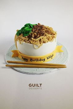 Chicken Noodle - by guiltdesserts @ CakesDecor.com - cake decorating website