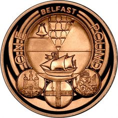 Reverse of 2010 Gold Proof Oner Pound Coin - Belfast