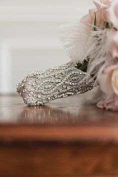 A bejeweled bouquet wrapper!
