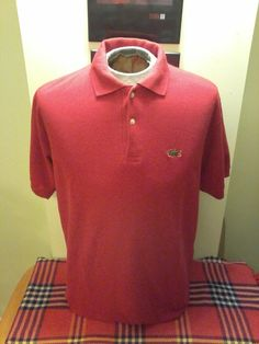 13322f6f0c1c Vintage Chemise Lacoste Men s Red Polo (Made in France) by VintageMixWest  on Etsy