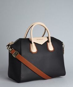 Classic and modern all in one. --Givenchy : black leather colorblock 'Antigona' convertible tote