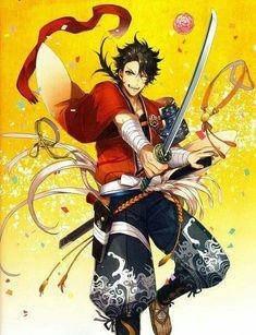 Mutsunokami Yoshiyuki, Anime Guys, Anime Male, Touken Ranbu, Sword, Samurai, Concept Art, Fan Art, Manga