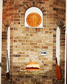 Custom woodfire pizza oven by Interior Design Center