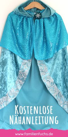 Elsa-style cape: That's how easy you sew it! - Elsa-style cape: That's how easy you sew it! Toga Costume Diy, Diy Toga, Easy Costumes, Costumes For Women, Costume Ideas, Tree Halloween Costume, Halloween Fancy Dress, Halloween Outfits, Diy Halloween
