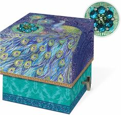 Peacock Music Box Soap - $17.99 - The perfect hostess gift, stocking stuffer, or present for yourself... a gorgeous music box containing useful soap!