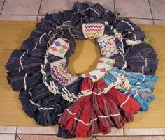 "Shangaan women's traditional dress and also used in dancing ceremonies and is know as ""Motjeka"""