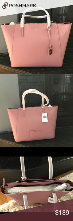 Kate spade purse NWT...Large leather Kate spade purse. Never used still have tissue paper inside. Dusty pink color. kate spade Bags Shoulder Bags