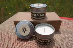 Napalm Or Bacon Scented Candles :  Set Of Two by ShopOneTreeLane