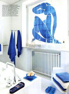 Matisse stained glass window in Carla Fendi's bathroom #art #design #interiordesign #fashion