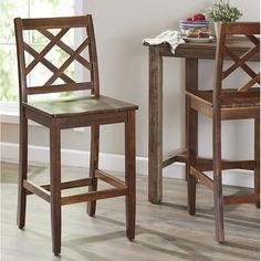 The weir counter stool is the perfect addition to your home. Made of acacia wood, these chairs are made with sturdy in mind. The finish is great for any decor and cross full back will lend great support. Add this to any counter and you will be delighted to have picked this up.