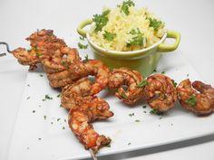Easy Grilled Shrimp Marinade Grilled Shrimp Marinade, Grilled Shrimp Recipes, Seafood Recipes, Cooking Recipes, Grilled Food, Shrimp Dishes, Great Appetizers, How To Cook Shrimp, Stuffed Peppers