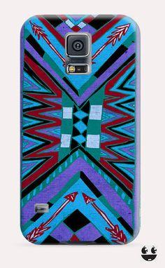 Abstract Blue Aztec Galaxy Samsung S5, Galaxy Samsung S4, Galaxy Samsung S3