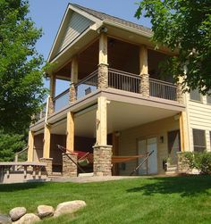 Stone Deck SUPPORTS | Deck Railings | An Outdoor Living Space – Patios, Porches, Sunrooms ...