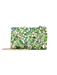 If I was going to the Oscars this year…  Oscar de la Renta. Multi Embroidered Satin DeDe Bag with Swarovski Crystals - Handbags - Shoes & Accessories