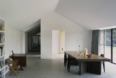 A Stable Reborn in Rural Norfolk - Remodelista Concrete Floors In House, Painted Brick Walls, Best Home Interior Design, Three Bedroom House, Interiors Magazine, Architectural Section, Architect House, Instagram, Home Decor