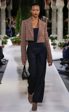 Wool-Blend Bustier Top by Oscar de la Renta Blazer Outfits, Chic Outfits, Fashion Outfits, Bustier Top, Fashion 2020, High Fashion, Steampunk Fashion, Gothic Fashion, Men's Fashion