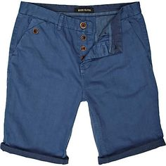 Blue turn up chino shorts  £25.00