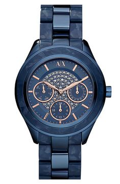 AX Armani Exchange Pavé Dial Bracelet Watch available at Nordstrom