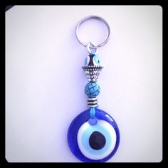 EVIL EYE Keychain New Perfect gift for protection Accessories Key & Card Holders Hamsa Hand, Key Card Holder, Evil Eye, Key Chain, Hands, Cosmetics, Personalized Items, Eyes, Check
