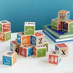 Katy/Jack: $50 - This set of blocks features illustrated terms from the world of math and science. - PURCHASED