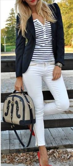 casual or career white jeans looks. how to get the look for less.