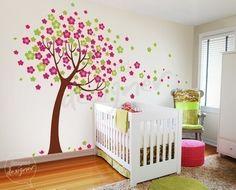 Cherry Blossom árbol pared calcomanía, flor, niños pared etiqueta etiqueta de la pared, decoración de pared - dd1012