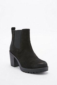 Damen Stiefeletten Chelsea Boots Metallic Leder Optik Schuhe 820704 New Look