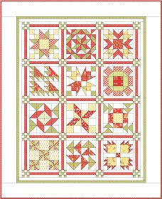 Apple Pie in the Sky Quilt BOM from Sisters and Quilters Quilting Tips, Quilting Tutorials, Quilting Projects, Quilting Designs, Jelly Roll Quilt Patterns, Quilt Block Patterns, Quilt Blocks, Sampler Quilts, Amish Quilts