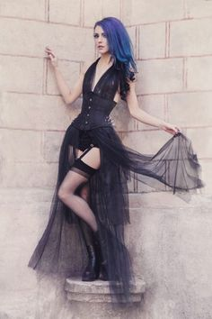 Gothic and Amazing Model, MUA: Blood Betty Outfit: Deathless Corsets Photographer: Aneta Pawska - Enchanted Stories