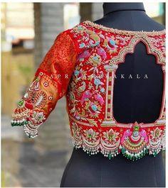 New Saree Blouse Designs, Fancy Blouse Designs, Bridal Blouse Designs, Blouse Patterns, Hand Work Blouse Design, Stylish Blouse Design, Sarees, Lehenga, Marriage