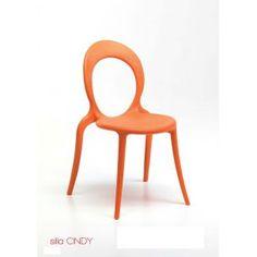 """Silla de cocina Cincy de Mavilop es una silla con estructura en polipropileno inyectado.  Tecnologia """"air moulding"""" con diseño de excelente comodidad.  Para uso interno y externo.  Apilable"""