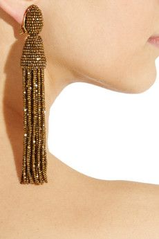 Oscar De La Renta - Beaded tassel earings - Me Like!